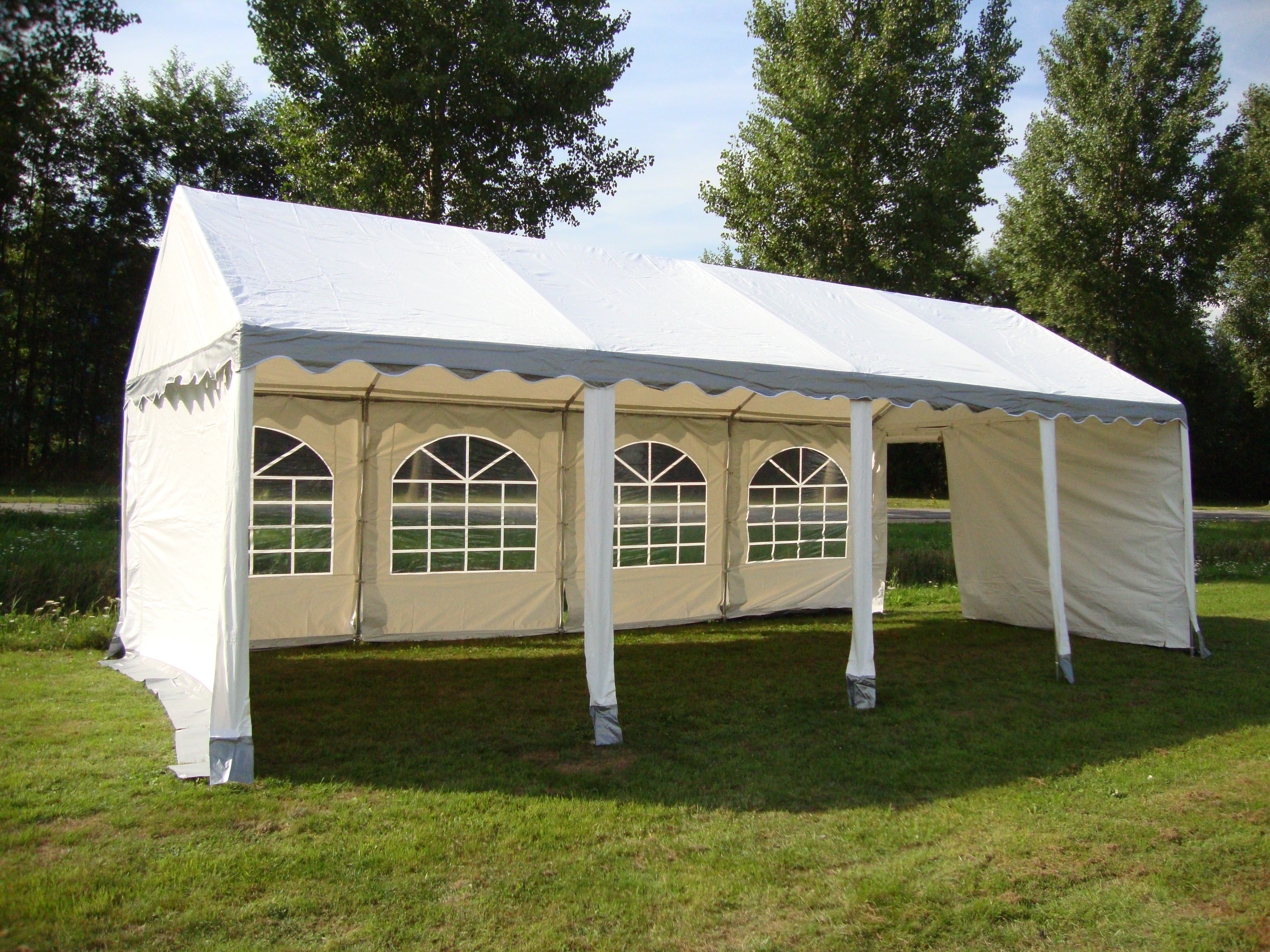 Partytent 4 x 8 meter axitraxi for Wohnzimmer 4 x 8